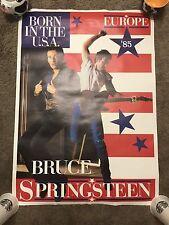 Born in the USA Vtg Original 1985 Bruce Springsteen TOUR concert Poster EUROPE