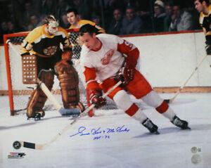 Gordie Howe Signed Detroit Red Wings 16x20 Photo HOF & Mr Hockey BAS 33453