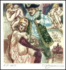 David Bekker 2013 Exlibris C4 Casanova Erotic Erotik Nude Woman Sex 983