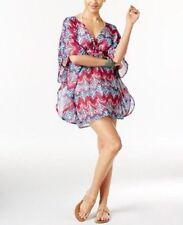 NEW Miken MInt Wine Cross Back Tunic Poncho Swimwear Cover Up XL XLarge
