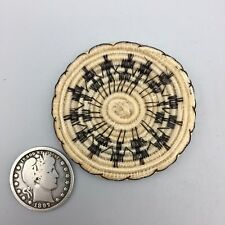 Native American (Tohono O'odham/Papago) Mini Horsehair Basket - Annie Antone