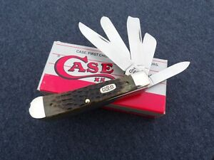 CASE XX *a SFO LATE 90's GREEN BONE 5 BLADE TRAPPER KNIFE KNIVES
