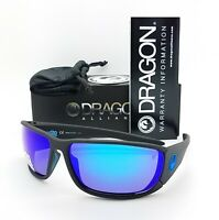 NEW DRAGON Tow In H20 sunglasses Matte Black Polarized Blue 007 Mirror AUTHENTIC
