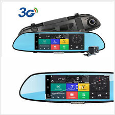 7'' GPS car video recorder Bluetooth WIFI 1080P 2-Lens rearview mirror Dash cam