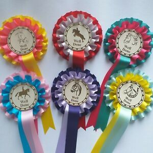Horse Rosettes Well Done 2 Tier Pack Of 5  limited amount available