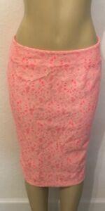 Light Orange Womens Spring Colors Floral Skirt Size M(8)