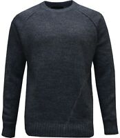 New Mens Plain Knitted Crew Neck Top Knitwear Jumper Sweater S - XXL