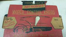 1930s 1940s 1950s Vintage Automobilia Replacement Wiper Control Knob NOS ANTIQUE