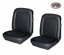 1968 Mustang Black FASTBACK Front & Rear Seat Upholstery - Made by TMI