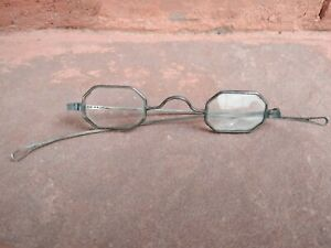 Great Old Antique Spectacles or Reading Glasses Coin Silver Civil War Era?