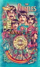 "Fabric Quilt Block - The Beatles - Classic Rock  - Illustration - 6""x10""  5087"