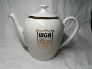 White & Gold Teapot Western Golf Association Chick Evans Caddy Scholarship 1992