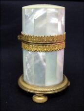 Antike Deckeldose Perlmutt Bronze Biedermeierzeit um 1820