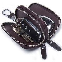 Men's Genuine Leather Car Key Holder Key Chain Case Wallet Holder House Key Bag