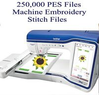 250,000 PES ONLY Machine Embroidery Designs USB   Brother/Bernina