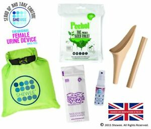 Shewee Flexi Travel Pack - The ORIGINAL Female Urination Device - Desert Sand