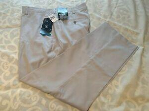 PGA TOUR Men's DriFlux~SunFlux~MOTIONFLUX 360 PANTS ~Size 42/30~Silver Cloud~NWT