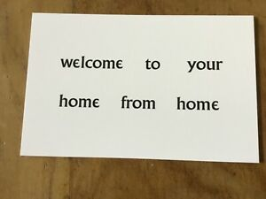 PATRICK McGOOHAN THE PRISONER WELCOME TO YOUR HOME FROM HOME CARD ARRIVAL