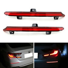 Red Lens Full LED Bumper Reflector Tail & Brake Lights For 2018-up Honda Accord