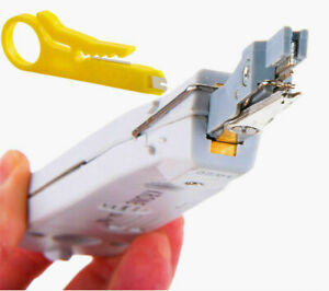 New IDC Punch Down Tool LAN Telephone Cable CAT5 CAT6 Krone Terminal Cutter RJ45