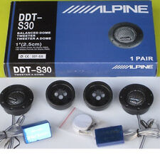 Alpinev DDT-S30 Soft Silk Dome Balanced Car Stereo Audio Tweeters w/ Crossovers