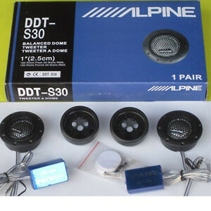 ALPINE DDT-S30 Car Stereo Speakers Music Soft Dome Balanced Car Tweeters 360W