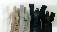 YKK Marine Zipper,#10 for Boat Tops,Canvas & Outdoor,White-Black-Navy-Beige-Gray