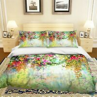 3D Flower Vine ZHUA1746 Bed Pillowcases Quilt Duvet Cover Set Queen King Zoe