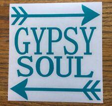 "Gypsy Soul Arrows Turquoise 6"" Car Vinyl Sticker Decal hippie free spirit *G30*"
