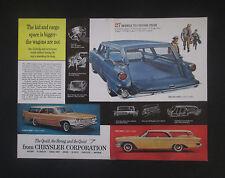 Chrysler 1960 Plymouth Dodge Station Wagon Original Vintage Print Ad