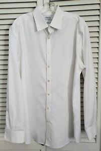 Charles Tyrwhitt Dress Shirt 17.5 36 Jermyn Street London Extra Slim White
