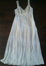 Monsoon bridal empire wedding dress godess greecian embelished size 10 off white