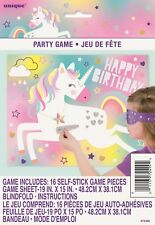 Birthday Party Fun Games Stick The Horn On The Unicorn + Blindfold Favour Game