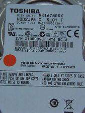 160 GB Toshiba MK1676GSX - HDD2J96 C SL01 T / A0/GS0001A / G002825A disco rigido
