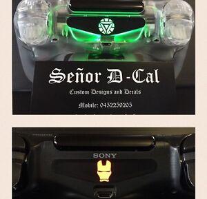 IRON MAN MASK & IRON MAN 3 ARC REACTOR Ps4 Dualshock Lightbar Decal Set