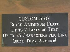 "Custom Engraved Plate ALUMINUM 3""x6"" Custom Name Plate Plaque Art Label Tag Gift"
