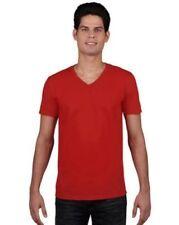 Magliette da uomo rossi scollo a v m