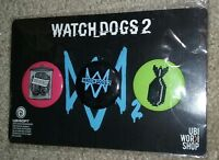 NEW Ubisoft Watch Dogs 2 PREORDER BONUS Button Pin Set 2016 GAMESTOP EXCLUSIVE