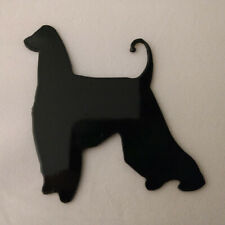 Afghan Hound Refrigerator magnet black silhouette Made in the Usa