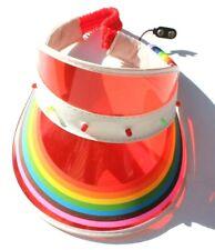 Vtg 1980's Rainbow GAY Light Up Sun Visor Hat Classic Plastic Festival Hat NOS R