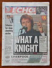 Liverpool Echo June 2008 Sir Paul McCartney - What A Knight