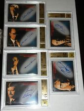 1998 X-Files Fight the Future BGS 9.5 GEM MINT Set Autograph Signature SKINNER