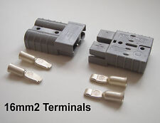 PAIR 50 AMP ANDERSON CONNECTOR 16mm CABLE TERMINALS, MORGAN, MGB, CLASSIC CARS
