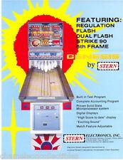 GENESIS By STERN 1978 ORIGINAL NOS SHUFFLE ALLEY ARCADE GAME PROMO SALES FLYER