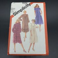 Simplicity Vintage Sewing Pattern #5552 Miss Pullover Asymmetrical Dress Size 10