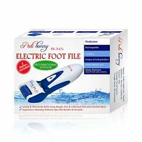 Powerful Rechargeable Electric Callus Remover - Electronic Foot File -Blue