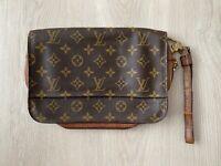 Louis Vuitton Orsay M51790 Monogram Vintage Clutch Brown Pochette Hand Bag