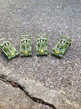 VINTAGE FOUR PIECE AURORA AFX SLOT CAR BODY GROUP / PEACE TANK GREEN / 1782-001
