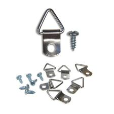 Frame Triangle Ring Hanger - Small D-Ring Picture Hanger with Screws - 100 Pack