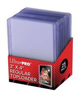 100 ULTRA PRO 3x4 Sports Card REGULAR CLEAR Toploaders + FREE SLEEVES